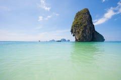 泰国- Phra Nang海滩 免版税库存图片