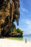 Phra Nang beach with cave Stock Images