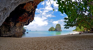 Phra Nang beach. The Phra Nang beach is located South of the West Railay beach, in the Andaman Sea, province of Krabi, Thailand stock photos