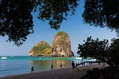 The Phra Nang beach Stock Photos