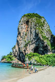 Phra Nang Cave Beach. Island hoping at Railay Krabi Thailand Royalty Free Stock Photography