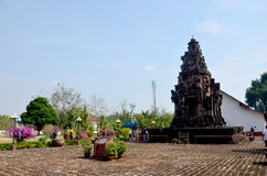 Phra That Narai Cheng Weng or Phra That Narai Jengveng sandstone. Pagoda Khmer art for people travel visit and pray in Sakon Nakhon, Thailand Stock Photo