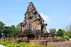 Phra That Narai Cheng Weng or Phra That Narai Jengveng sandstone. Pagoda Khmer art for people travel visit and pray in Sakon Nakhon, Thailand Stock Photography