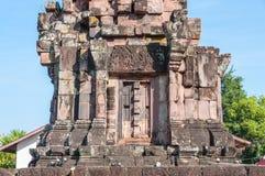 Phra That Narai Cheng Weng, Sakon Nakhon,Thailand. Phra That Narai Cheng Weng,The sandstone pagoda is on a laterite base. Ornate designs adorn the lintel Stock Photos