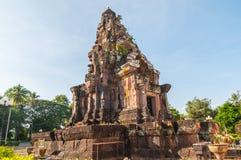 Phra That Narai Cheng Weng, Sakon Nakhon,Thailand. Phra That Narai Cheng Weng,The sandstone pagoda is on a laterite base. Ornate designs adorn the lintel Stock Images