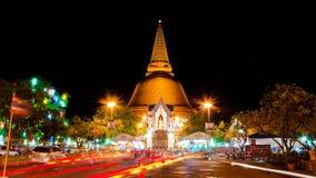 Phra Pathom Chedi塔,最高的塔在世界上 图库摄影