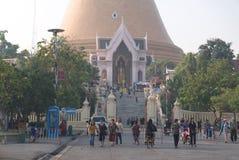 Phra Pathom Chedi寺庙在佛统不 2 免版税库存照片