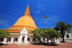 Phra Pathom Chedi,塔在Nakhon巴吞 库存照片