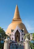Phra Pathom Chedi,泰国 免版税库存图片