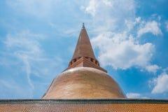 Phra Pathom Chedi на Nakhon Pathom, Таиланде Стоковые Изображения RF
