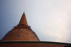 Phra Pathom Chedi. In Thailand during renovation Royalty Free Stock Photo