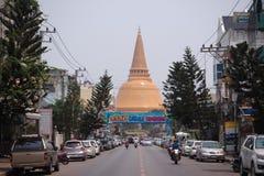 Phra Pathom Chedi bei Nakhon Pathom, Thailand Lizenzfreie Stockfotos