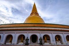 Phra Pathom Chedi biggest Sanctuary. Is a vital part of Thailand Stock Photos