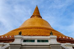 Phra Pathom Chedi biggest Sanctuary. Is a vital part of Thailand Royalty Free Stock Images