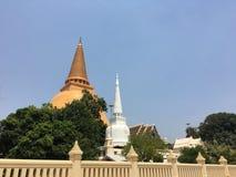Phra Pathom Chedi i Nakhon Pathom Fotografering för Bildbyråer
