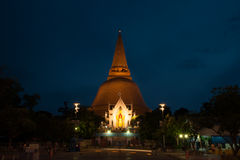 Phra Pathom Chedi is the landmark of Nakhonpathom province in Th Royalty Free Stock Images