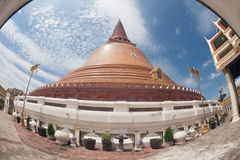 Phra Pathom Chedi is the landmark of Nakhonpathom province in Th Stock Images