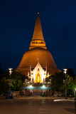Phra Pathom Chedi is the landmark of Nakhonpathom province in Th Stock Image