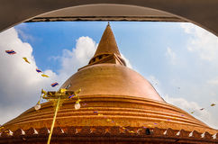Phra Pathom Chedi. Large golden pagoda Nakhon Pathom, Thailand Royalty Free Stock Photo