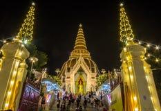 Phra Pathom Chedi Festival,Nakhon Pathom,Thailand on November20,2018:Phra Ruang Rodjanarith,a standing Buddha image in Granting Pa. PHRA PATHOM CHEDI is located royalty free stock images