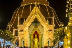 Phra Pathom Chedi Festival,Nakhon Pathom,Thailand on November20,2018:Phra Ruang Rodjanarith,a standing Buddha image in Granting Pa. PHRA PATHOM CHEDI is located stock images