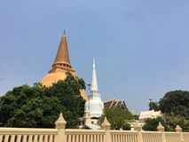 Phra Pathom Chedi in Nakhon Pathom Stock Afbeelding