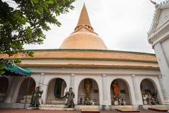 Phra Pathom Chedi. Pagoda at Phra Pathom Chedi Stock Photo