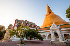 Phra Pathom Chedi, pagoda in Thailand. Royalty Free Stock Image