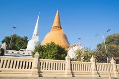 Phra Pathom Chedi. Is located outdoor Stock Photography
