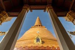 Phra Pathom Chedi, provincia di Nakkhon Pathom, Tailandia Immagini Stock Libere da Diritti