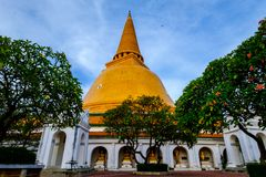 Phra Pathom Chedi Sanctuary. Is a vital part of Thailand Royalty Free Stock Photos