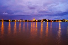 Phra Pathom Chedi Sanctuary is a vital part of Thailand. With th Royalty Free Stock Photos