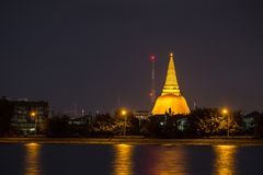 Phra Pathom Chedi Sanctuary is a vital part of Thailand. With th Royalty Free Stock Photo
