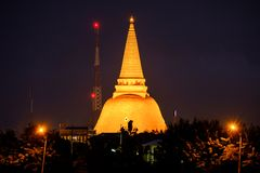 Phra Pathom Chedi Sanctuary is a vital part of Thailand. With th Royalty Free Stock Images