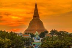 Phra Pathom Chedi stupa Stock Image