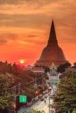Phra Pathom Chedi stupa Stock Photography