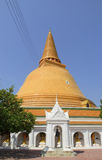 Phra Pathom Chedi, the tallest stupa in the world. It is located in the town of Thailand. Royalty Free Stock Photos