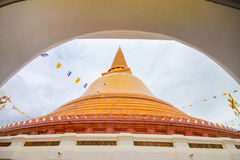 Phra Pathom Chedi temple in Nakhon Pathom Province, Thailand. Royalty Free Stock Photos