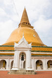 Phra Pathom Chedi temple Royalty Free Stock Photography
