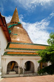 Phra Pathom Chedi in Thailand during renovation Stock Photography