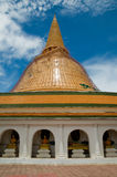 Phra Pathom Chedi in Thailand during renovation Royalty Free Stock Photos