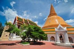 Phra Pathom Chedi Wat Suan Dok Nakhon Pathom    Thailand Lizenzfreies Stockbild