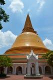 Phra Pathom Nakhon巴吞,泰国Chedi  库存照片