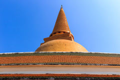 Phra Pathommachedi Fotografía de archivo libre de regalías