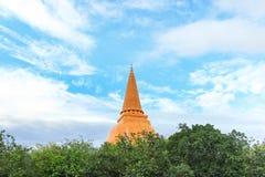 Phra Pathommachedi o Phra Pathom Chedi Fotos de archivo libres de regalías