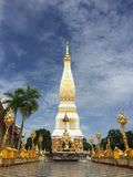 Phra That Phanom. The pagoda is located in Wat Phra That Phanom, Nakhon Phanom Province in the northeastern region of Thailand. Popular destination for people royalty free stock photos
