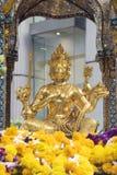 Phra Phrom. Erawan at Rajprasong Square Bangkok Thailand Royalty Free Stock Image