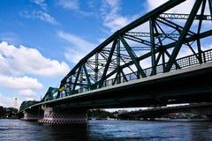 Phra Phutta Yodfa Bridge in Bangkok, Thailand, the Chao Phraya R Stock Photos