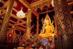 Phra Phuttha Chinnarat Buddha Image at Wat Phra Si Rattana Mahathat Temple in Phitsanulok, Thailand Royalty Free Stock Photos