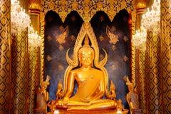 Phra Phuttha Chinnarat Buddha Image at Wat Phra Si Rattana Mahathat Temple in Phitsanulok, Thailand Royalty Free Stock Images